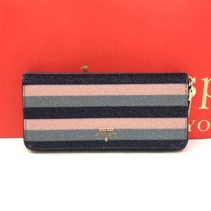 Kate spade owen Lane Lindsey stripe wallet multi